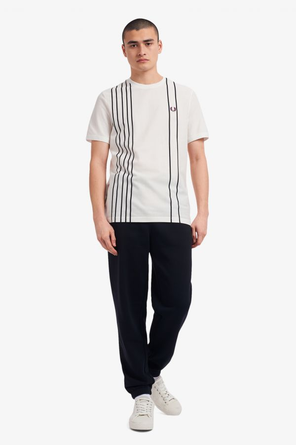 Refined Piqué Striped T-Shirt