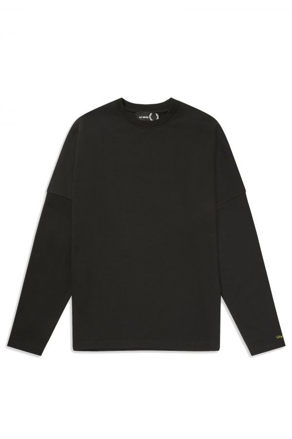 Raf Simons Embroidered Sleeve Long Sleeve T-Shirt