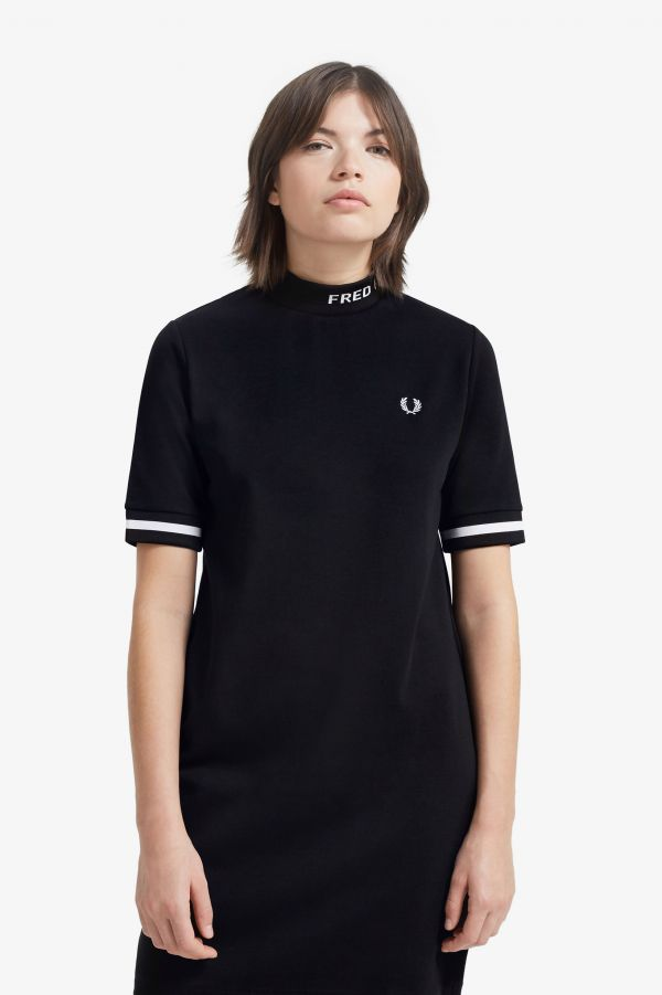 High Neck Fred Perry Graphic Dress