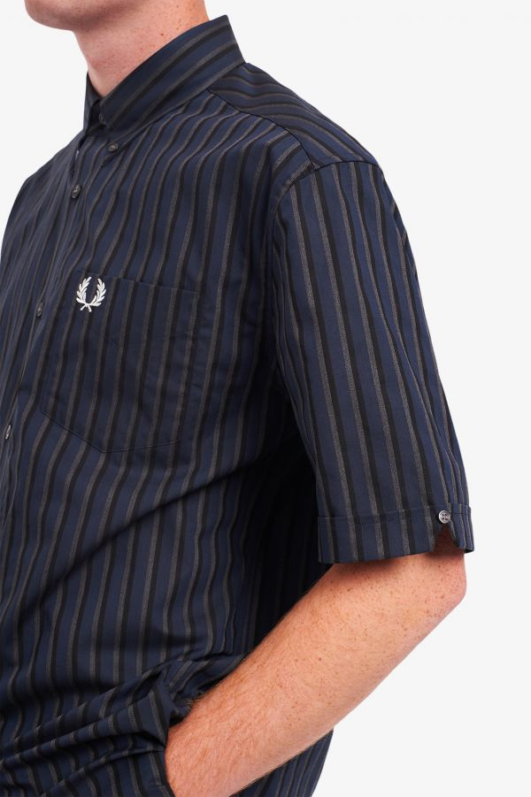 Marl Stripe Short Sleeve Shirt