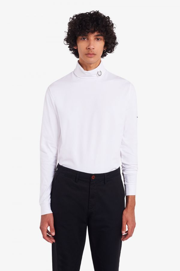 Raf Simons Laurel Wreath Detail Roll Neck Top
