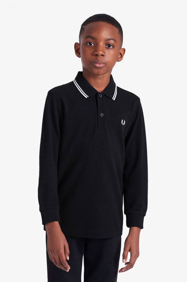 Kids Long Sleeve Fred Perry Shirt