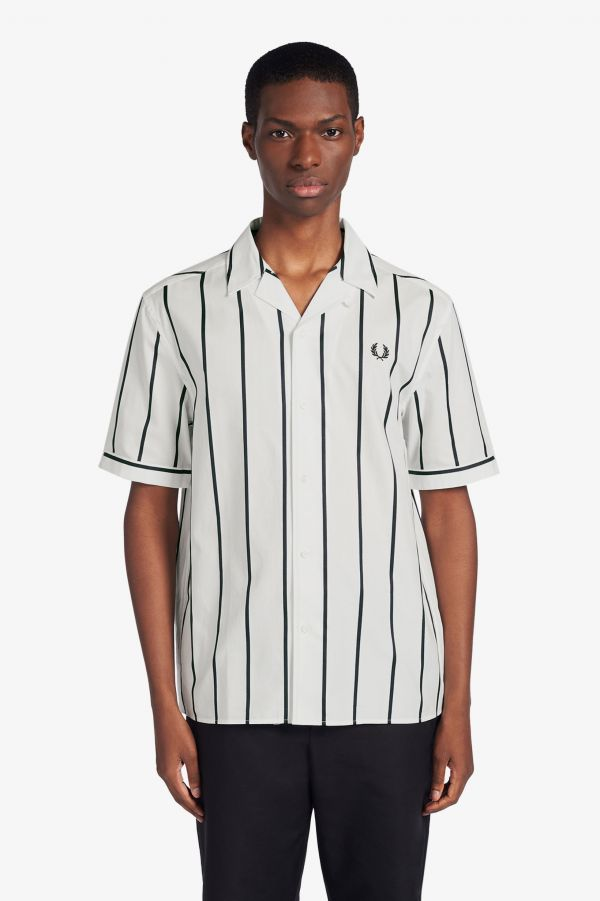 Striped Revere Collar Shirt