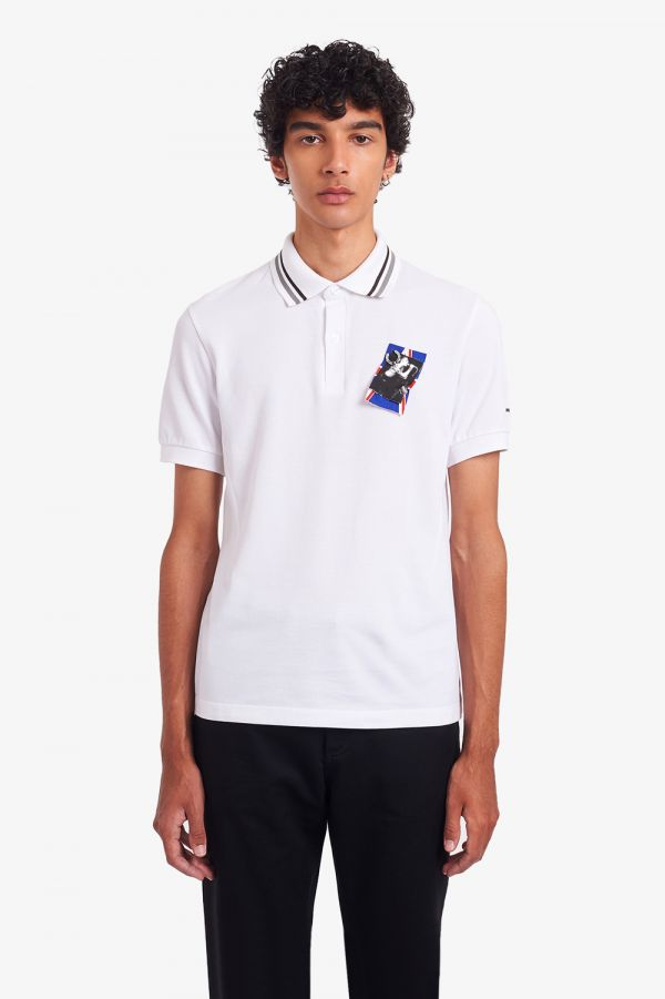Raf Simons Laurel Wreath Detail Tipped Polo Shirt