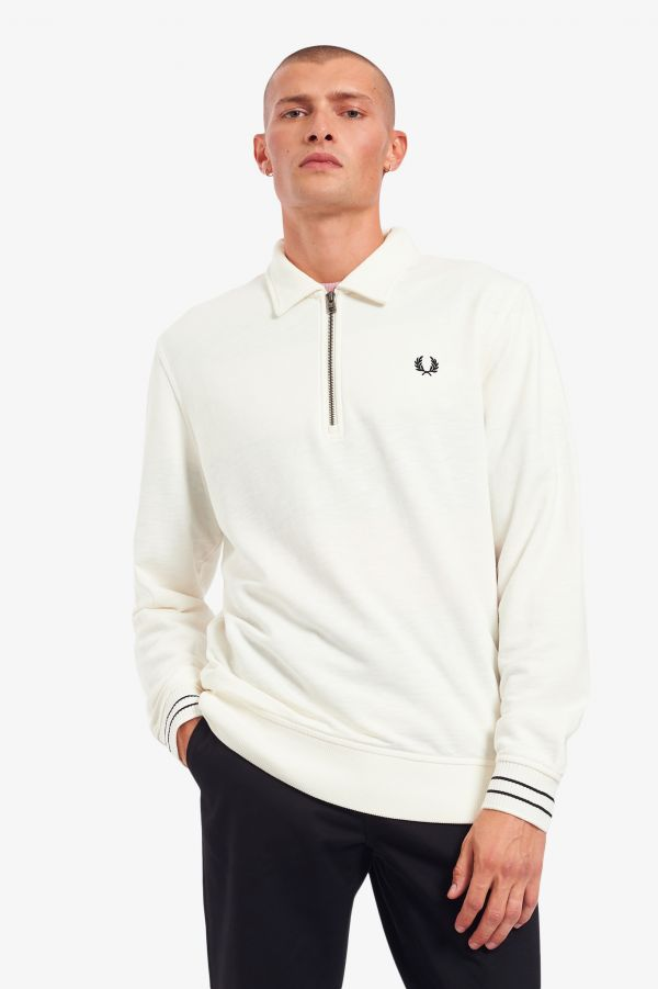 Zip Neck Collar Sweatshirt