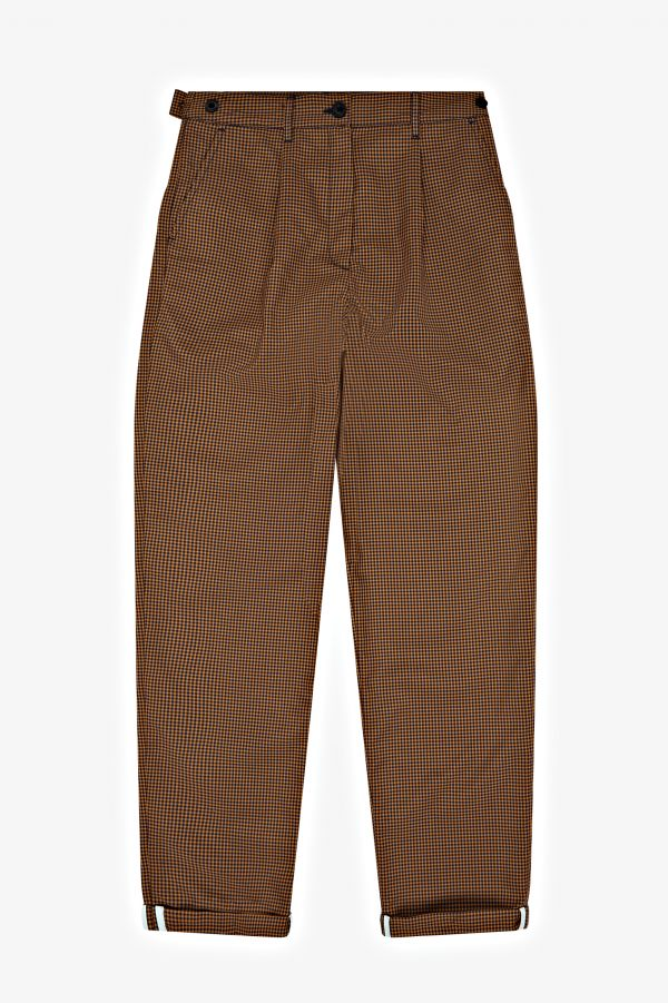 Tapered Gingham Trousers