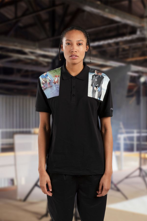 Raf Simons Shoulder Print Polo Shirt