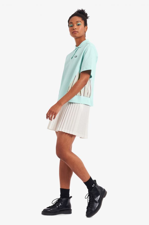 Woven Panel Polo Shirt