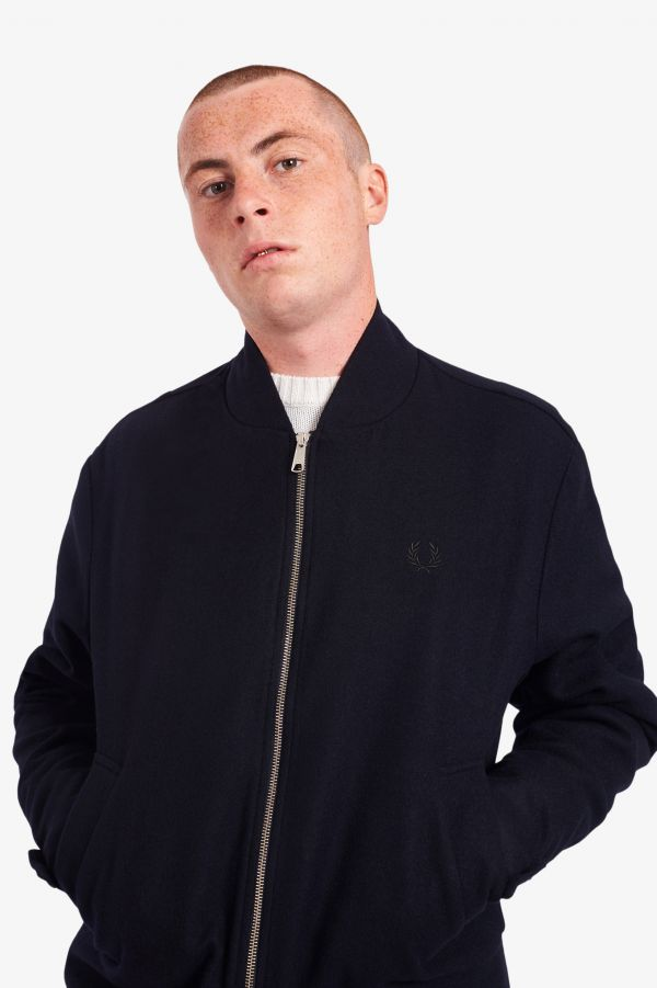 Wool Tennis Bomber