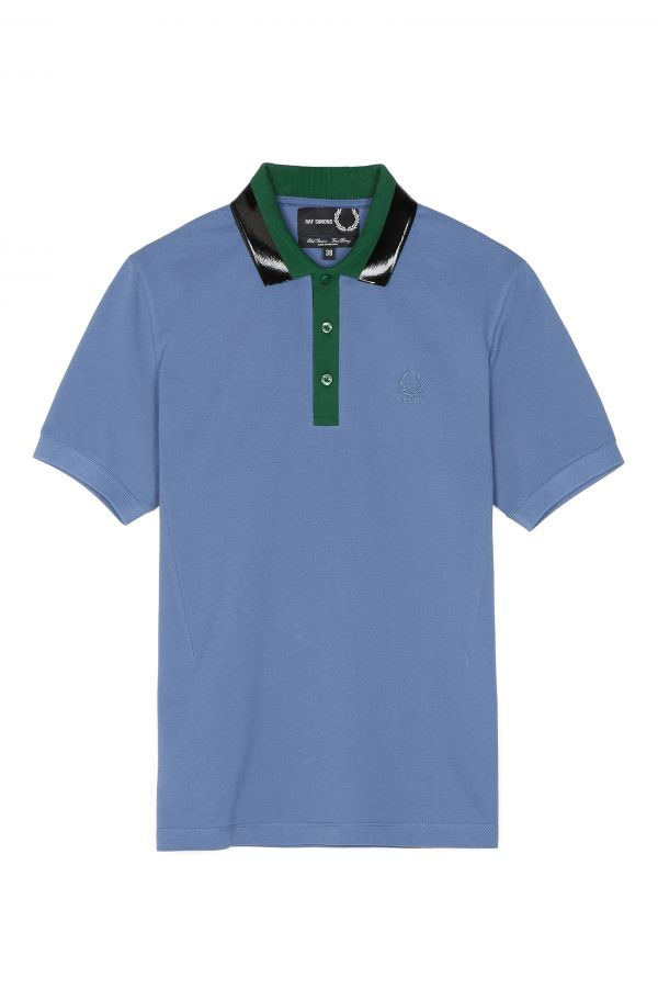 Polo In Piqué Con Colletto Con Fettuccia Raf Simons