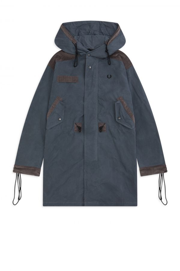 Nicholas Daley Parka In Velluto A Coste Made In England