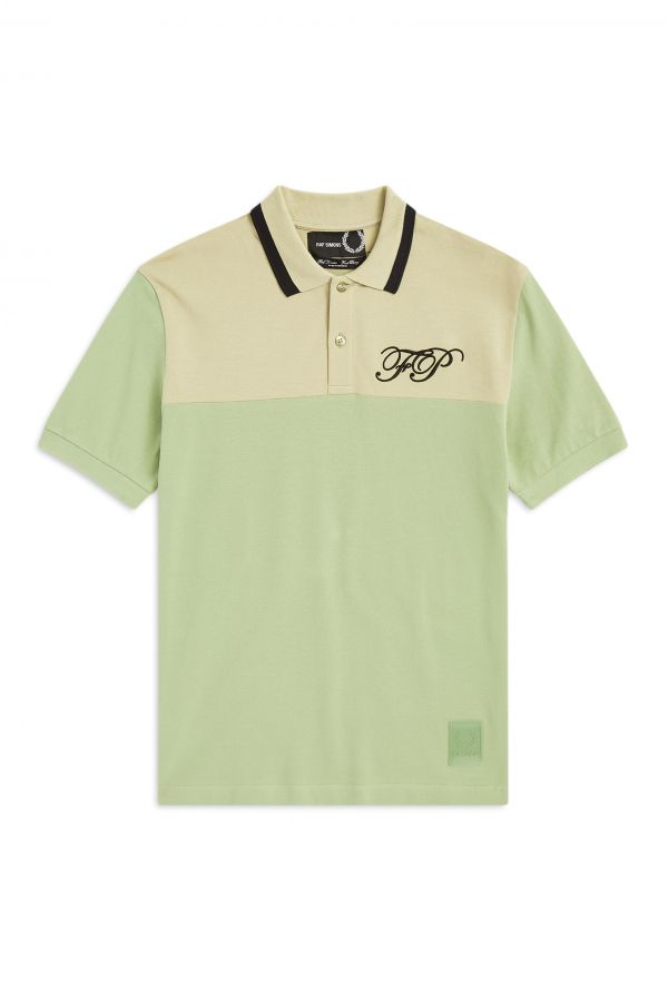 Raf Simons Polo Con Bordado