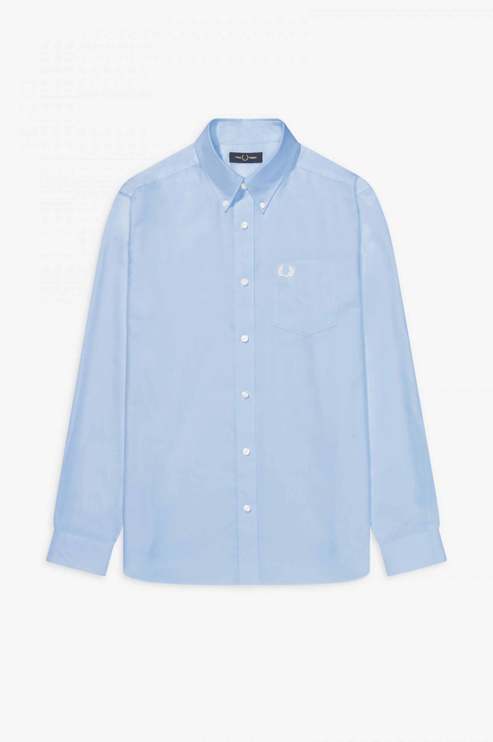 Fred Perry Mens Oxford Shirt Light Smoke