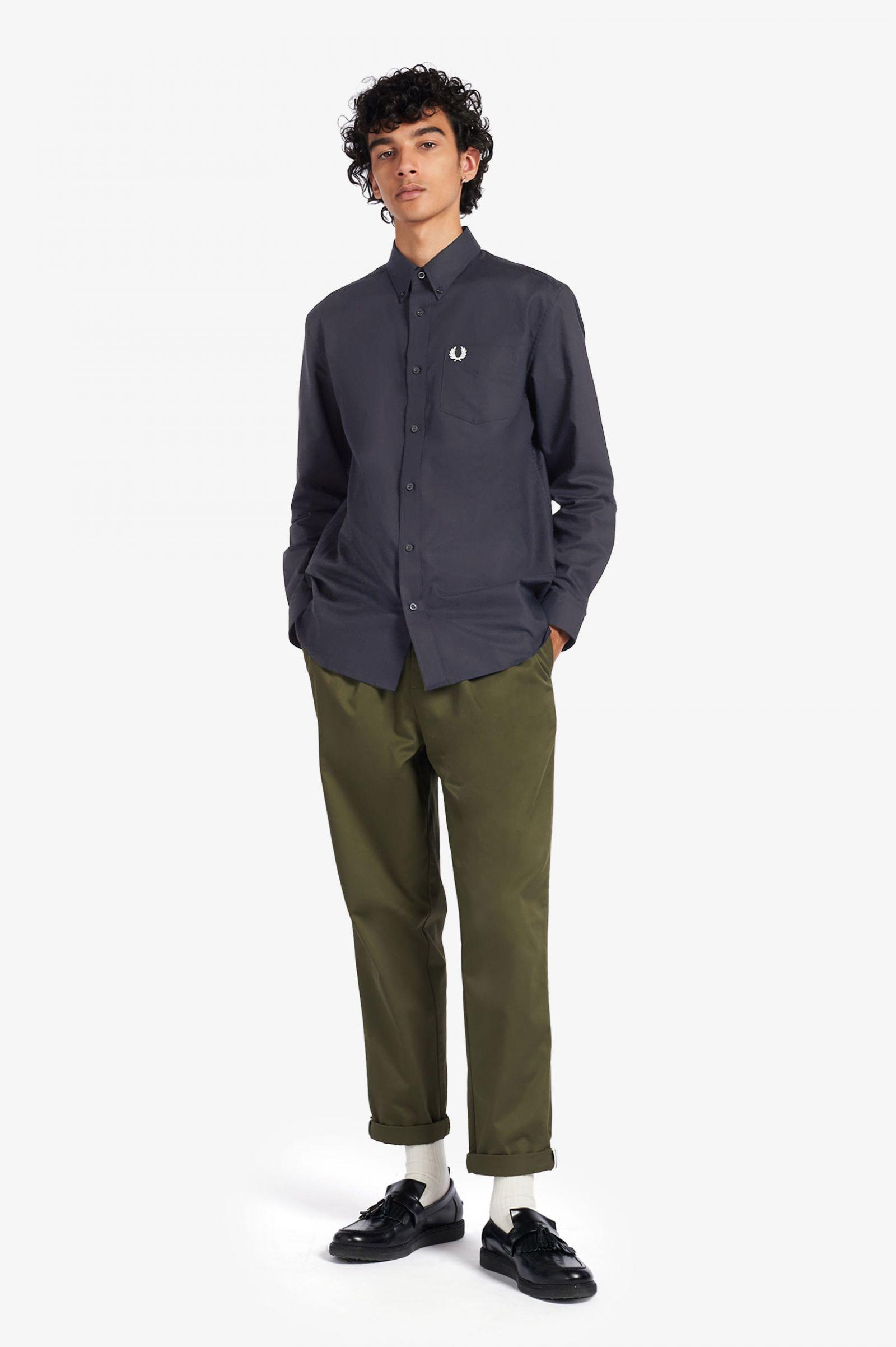 FRED PERRY Classic Oxford Shirt Hemd navy M3531-608 Kurzarm