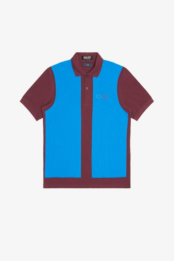 Homme Deux Colour Block Polo Shirt