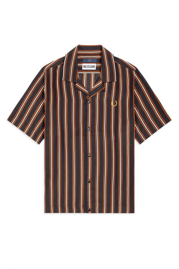 Miles Kane Striped Bowling Shirt