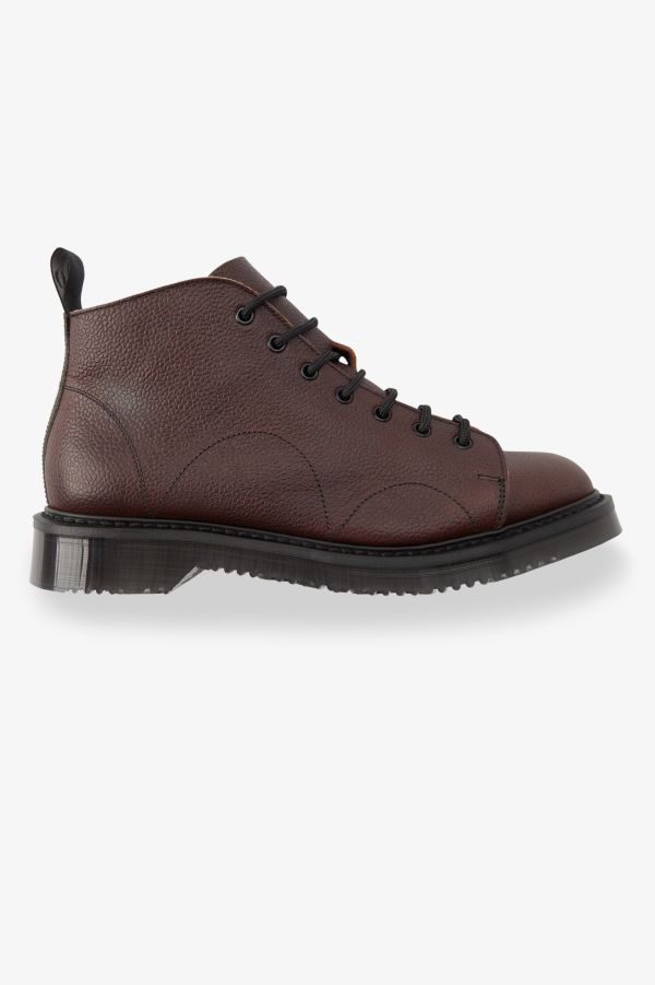 Monkey Boot In Pelle Goffrata