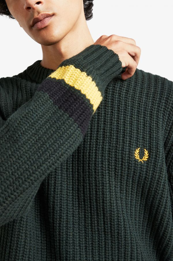 Bold Tipped Crew Neck Jumper