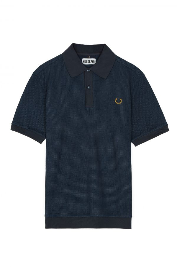 Miles Kane Textured Piqué Polo Shirt