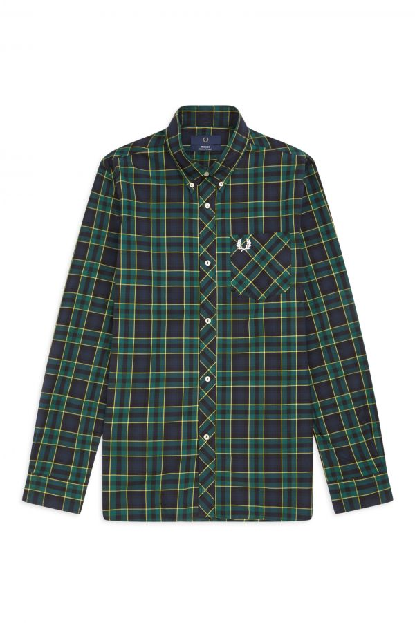 Reissues Camisa de cuadros escoceses con manga larga