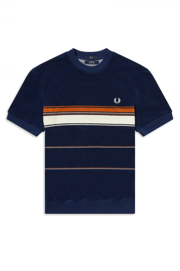 Striped Towelling T-Shirt