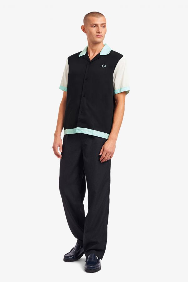 Chemise de bowling color-block