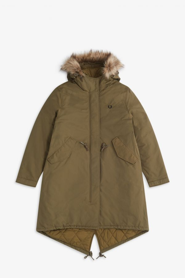 Parka queue de poisson rembourrée