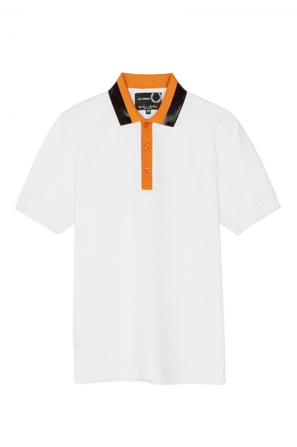 Raf Simons Taped Collar Piqué Polo Shirt