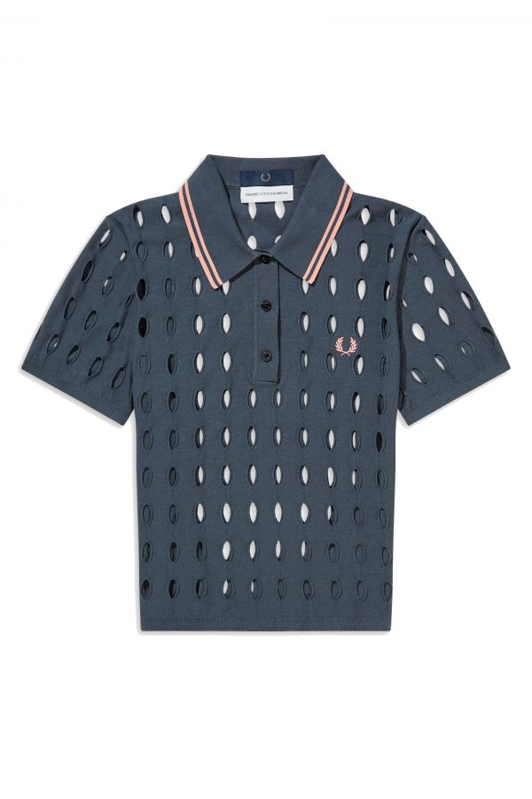 Akane Utsunomiya Open Knit Polo Shirt