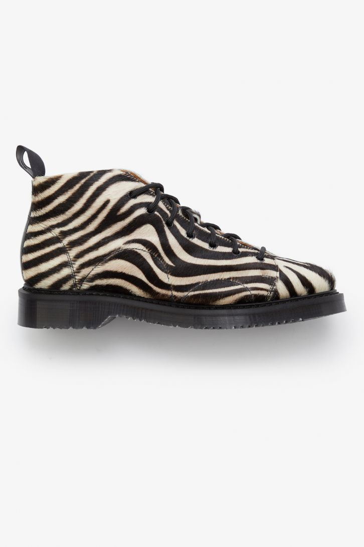 Printed Leather Monkey Boot