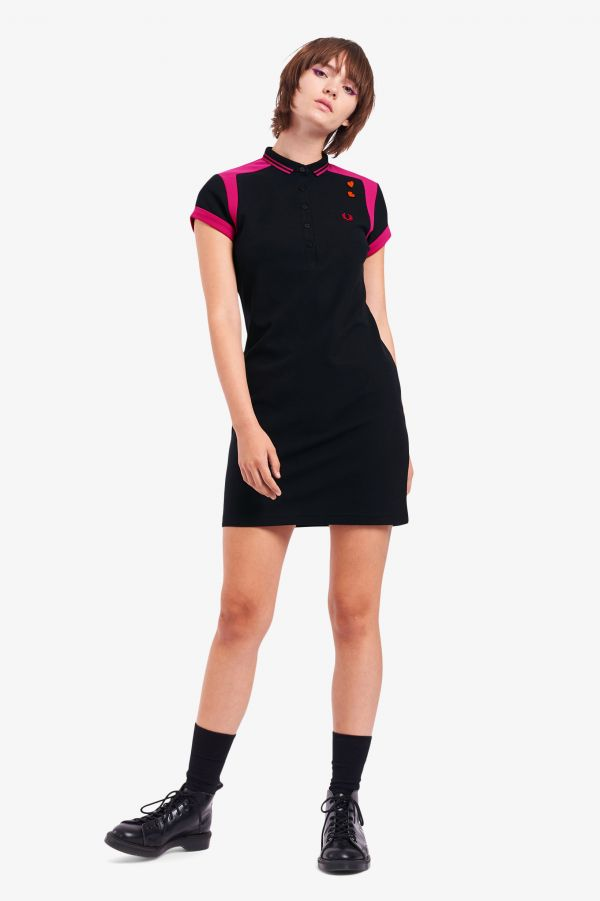 Panelled Piqué Shirt Dress