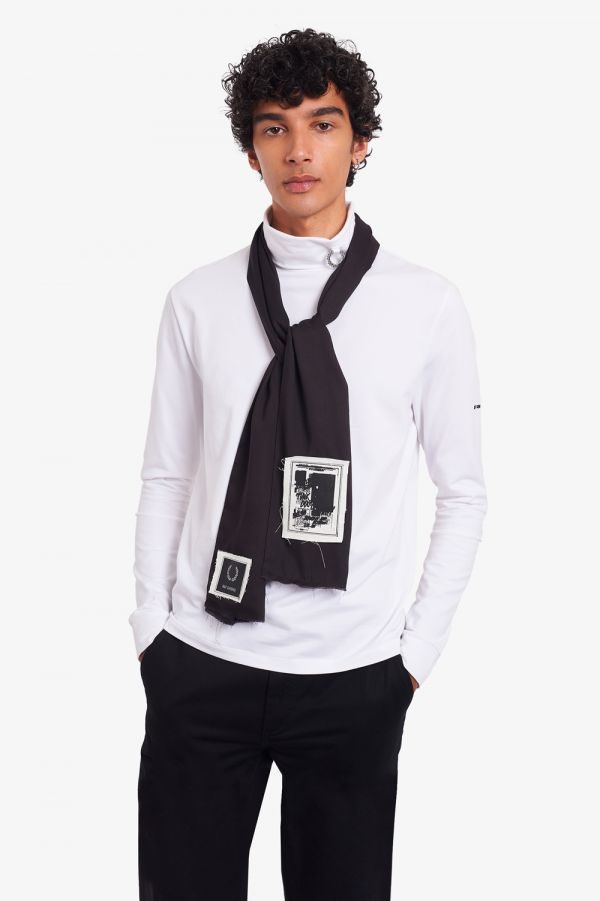 Raf Simons Printed Patch Scarf