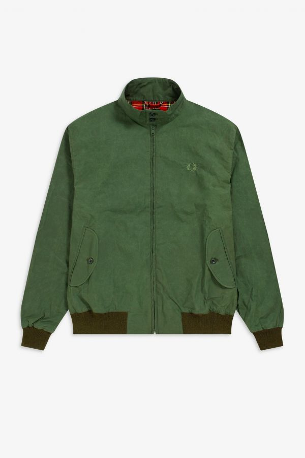 Gewachste Harrington-Jacke Made in England