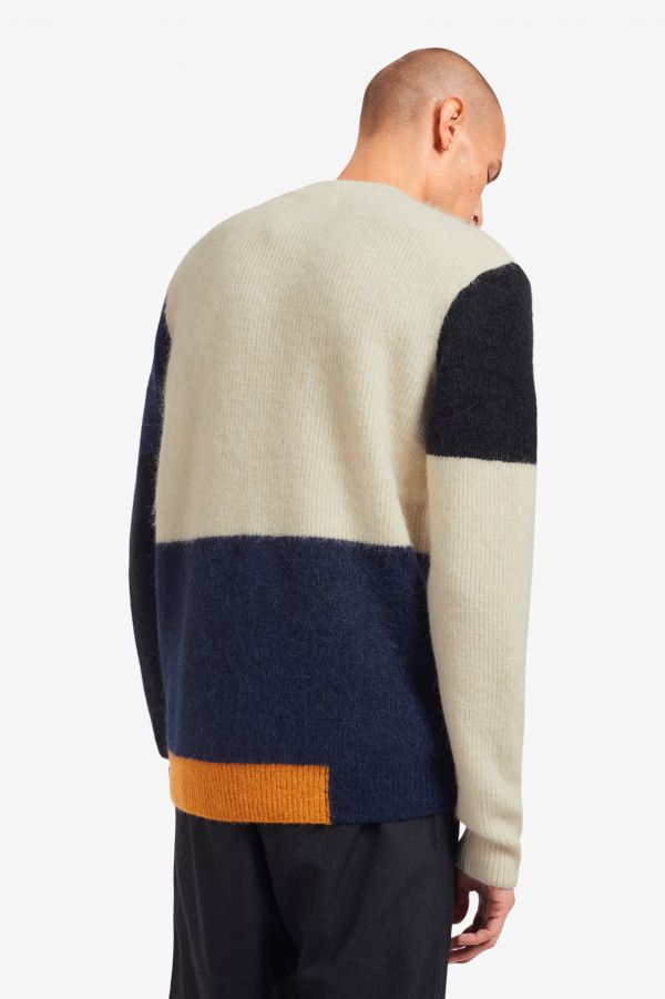 Maglione Colour Block In Alpaca