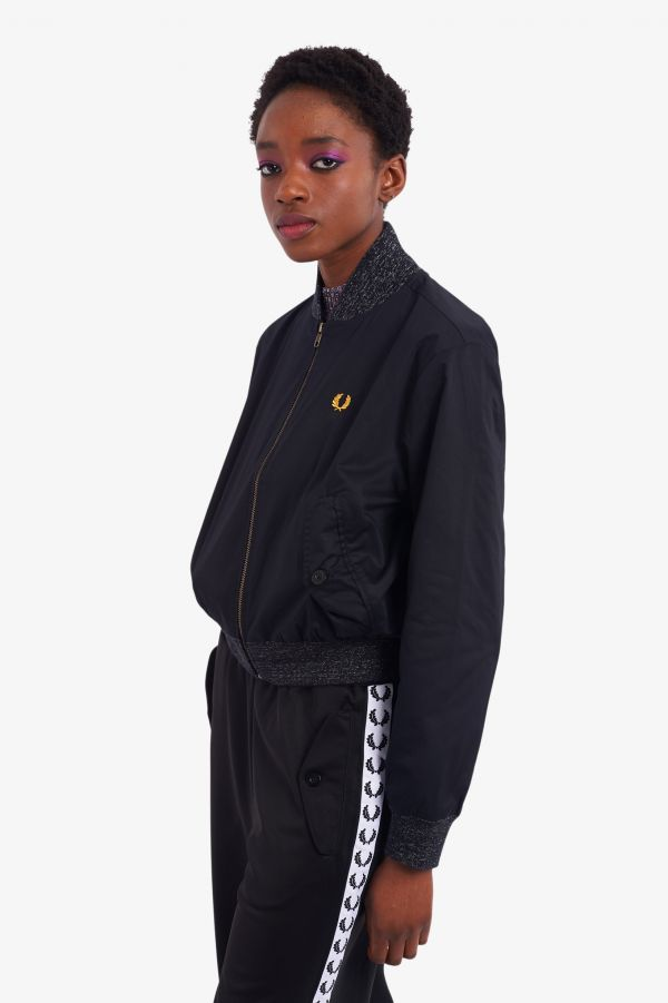 Space Dye Trim Bomber Jacket