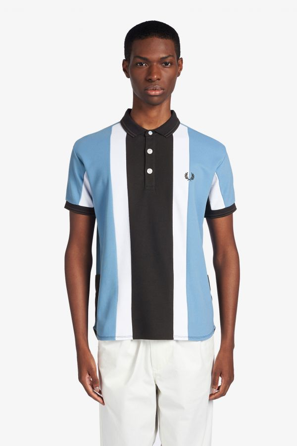 Narifuri Striped Quick Drying Polo Shirt