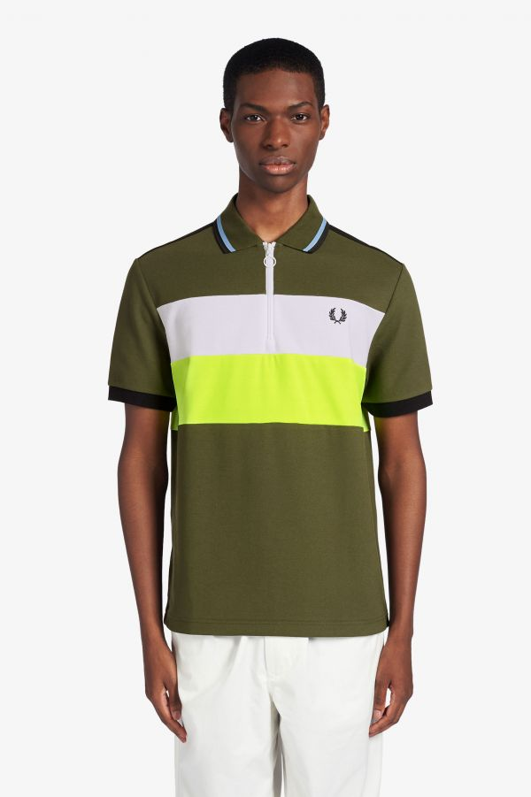 Narifuri Panelled Quick Drying Polo Shirt