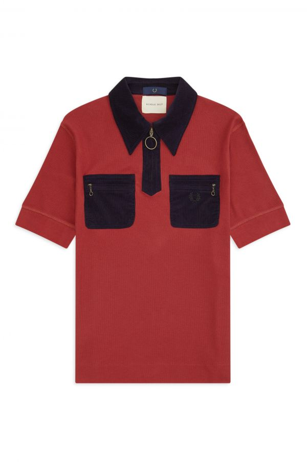 Nicholas Daley Corduroy Pocket Piqué Shirt