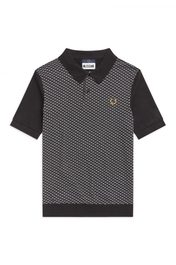 Miles Kane Jacquard Panel Polo Shirt