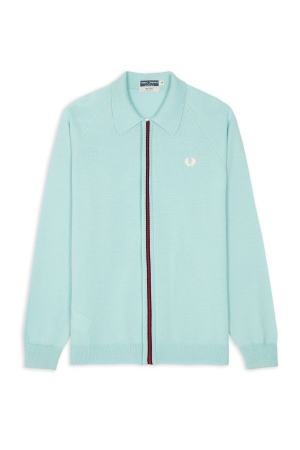 Reissues Polo In Maglia Con Zip Intera