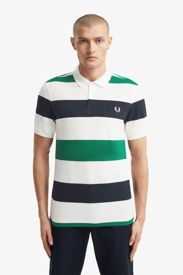 Textured Stripe Polo Shirt