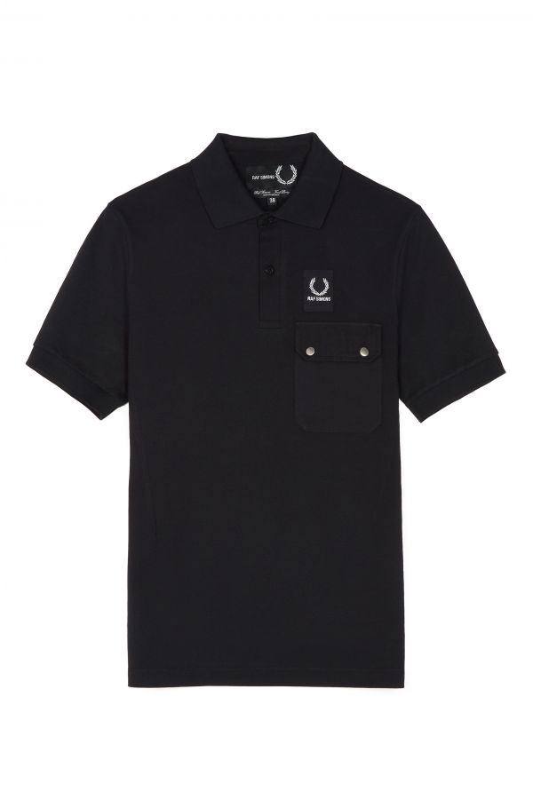 Raf Simons Pocket Detail Piqué Polo Shirt