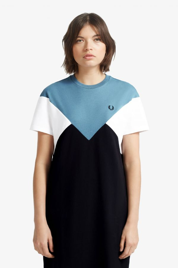 Robe T-shirt à chevron