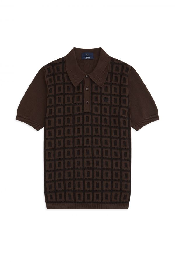 Reissues Jacquard Grid Knitted Shirt