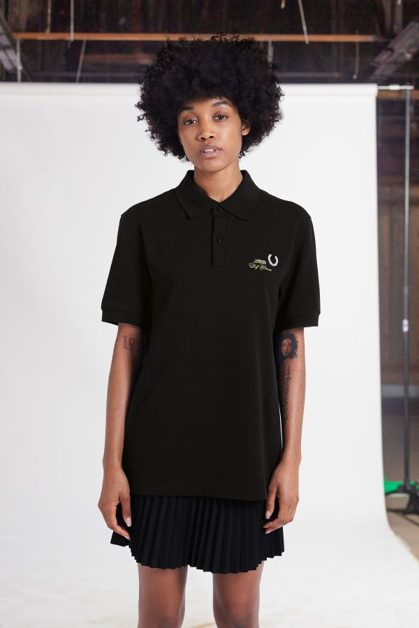 Raf Simons Laurel Wreath Detail Polo Shirt
