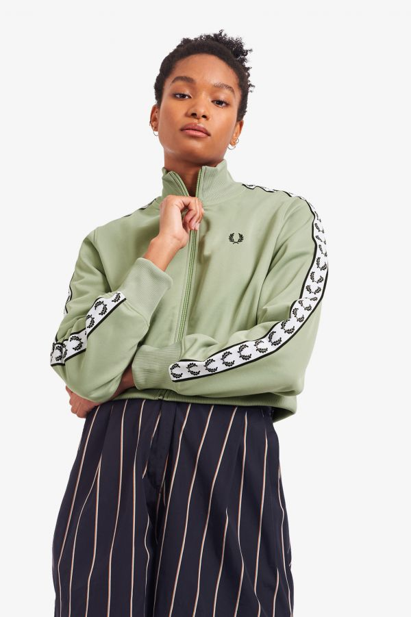Cropped Taped Track Jacket