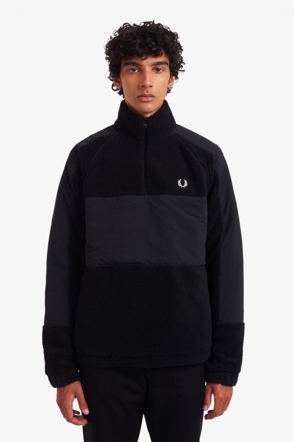 Woven Panel Borg Fleece