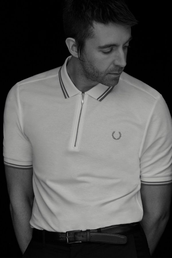 Miles Kane Zip-Neck Piqué Shirt