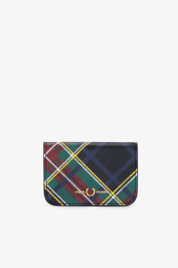 Tartan Leather Billfold Wallet