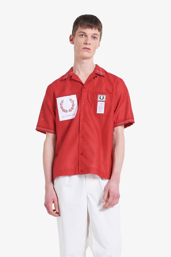 Art Comes First Revere Collar Bowling Shirt